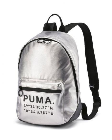 Puma Prime Time Archive Kadın Sırt Çantası 076595 Metallic Silver