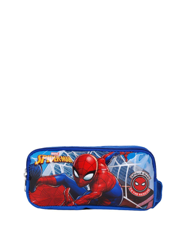 Spider-Man Çift Bölmeli Kalemlik 96836 Mavi