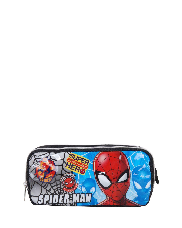 Spider-Man Çift Bölmeli Kalemlik 96844 Siyah
