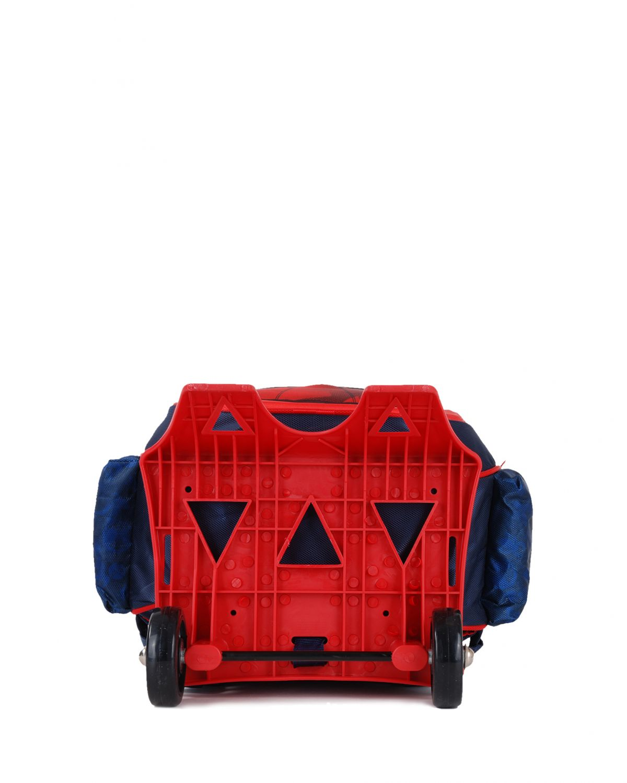 Spider-Man Kabartma Maske Detaylı Tekerlekli Sırt Çantası 95329 Lacivert