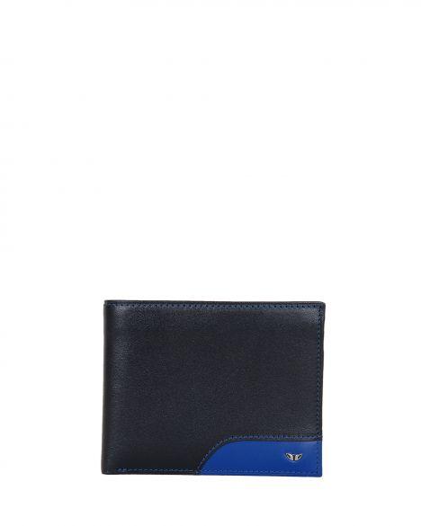 Tergan Şeffaf Bölmeli Erkek Cüzdanı S1CE00001613 Siyah- Saks Mavi