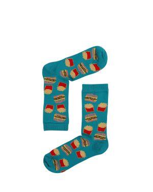 Fast Food Kadın Çorap  Renkli