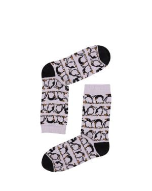 The Socks Company Flightless Penguins Kadın Çorap 15KDCR723K Renkli