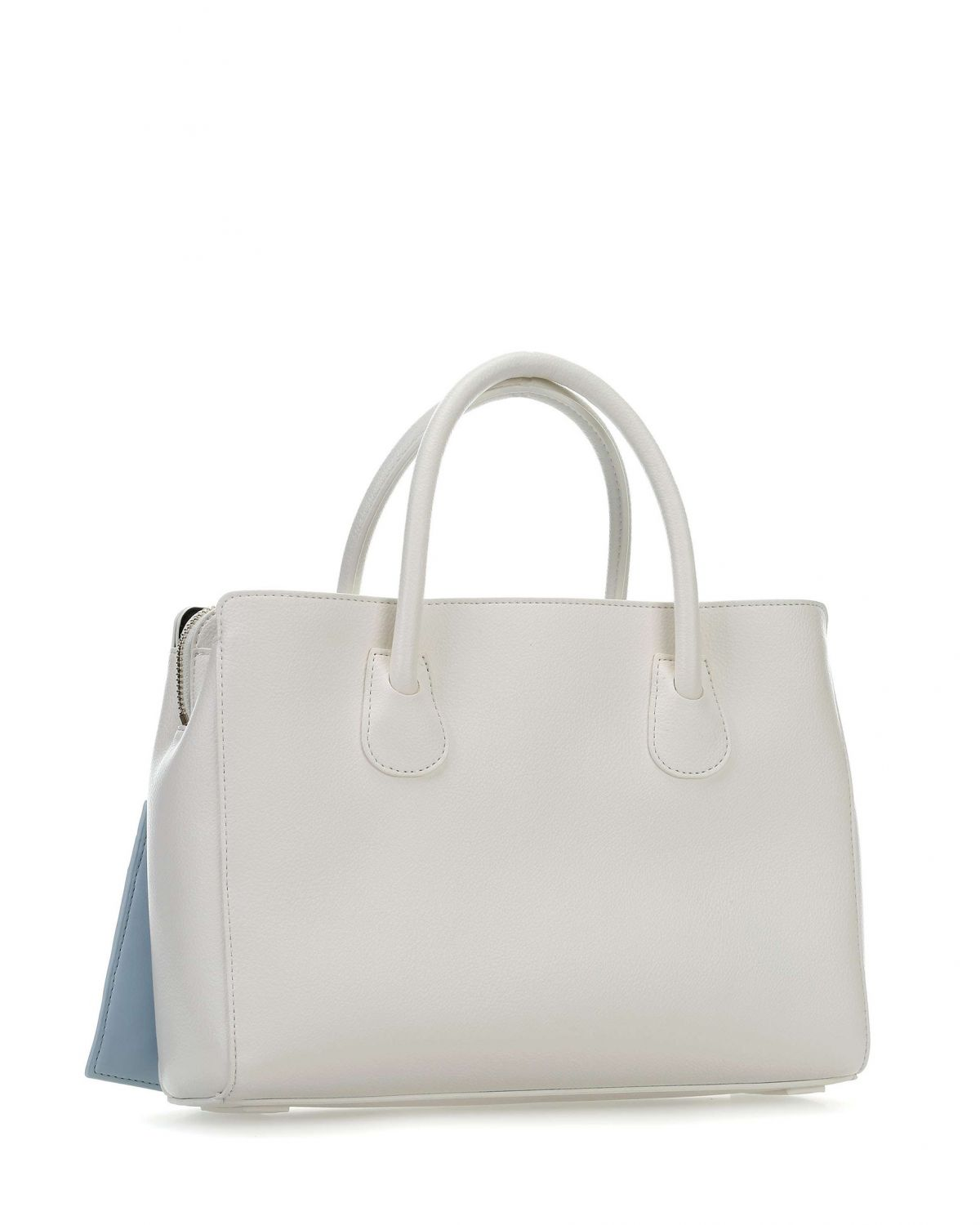 Tommy Hilfiger Charming Med Work El Çantası AW0AW06487 Bright White - Tommy Navy
