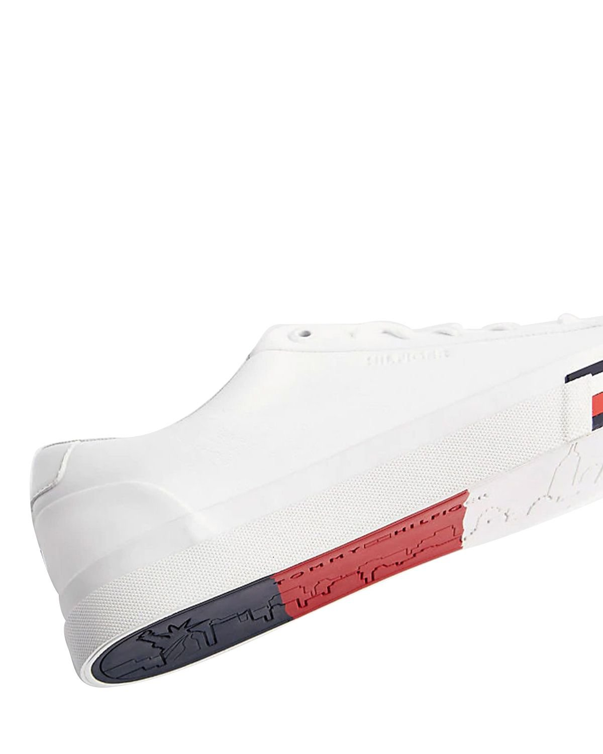 Tommy Hilfiger Corporate Leather Sneaker Erkek Ayakkabı FM0FM02672 White