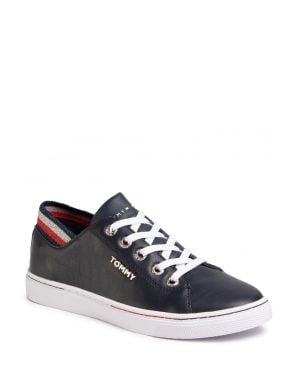 Tommy Hilfiger Glitter Detail City Sneaker Kadın Ayakkabı FW0FW04705 Desert Sky