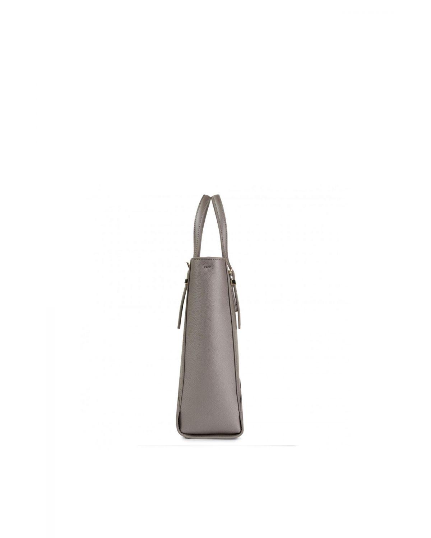 Tommy Hilfiger Honey Med Workbag Metallic Kadın El Çantası AW0AW07410 Grey