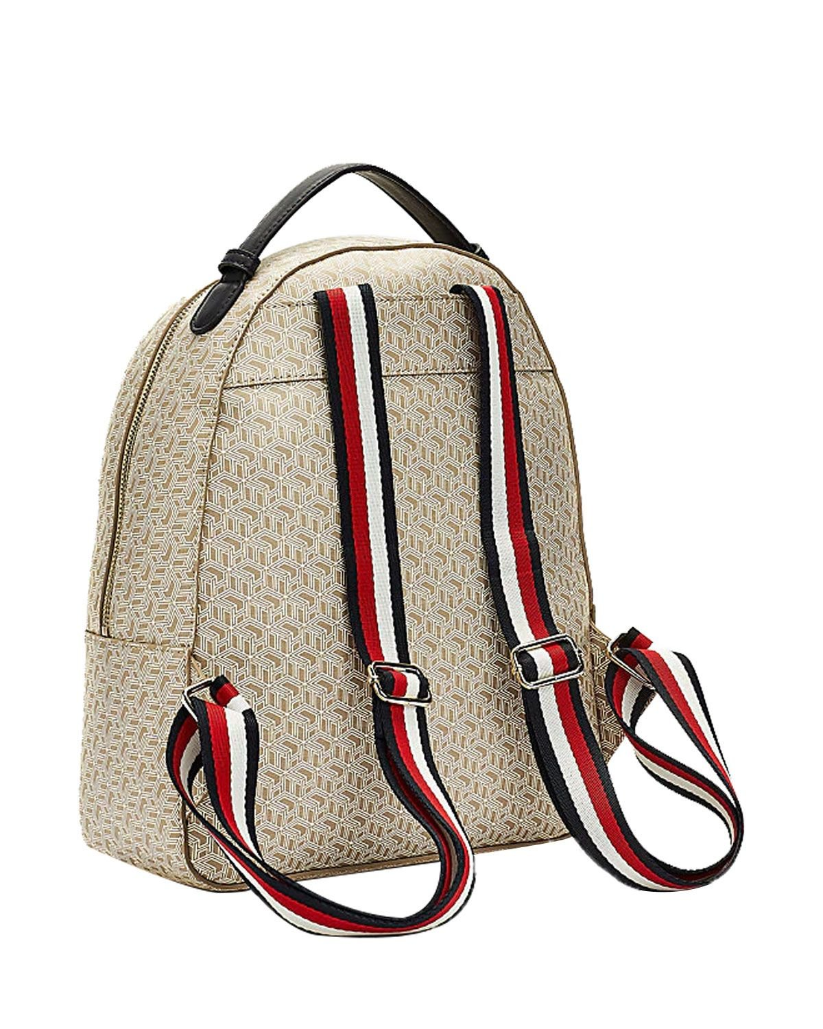 Tommy Hilfiger Iconic Tommy Backpack Monogram Kadın Sırt Çantası AW0AW07926 Neutral