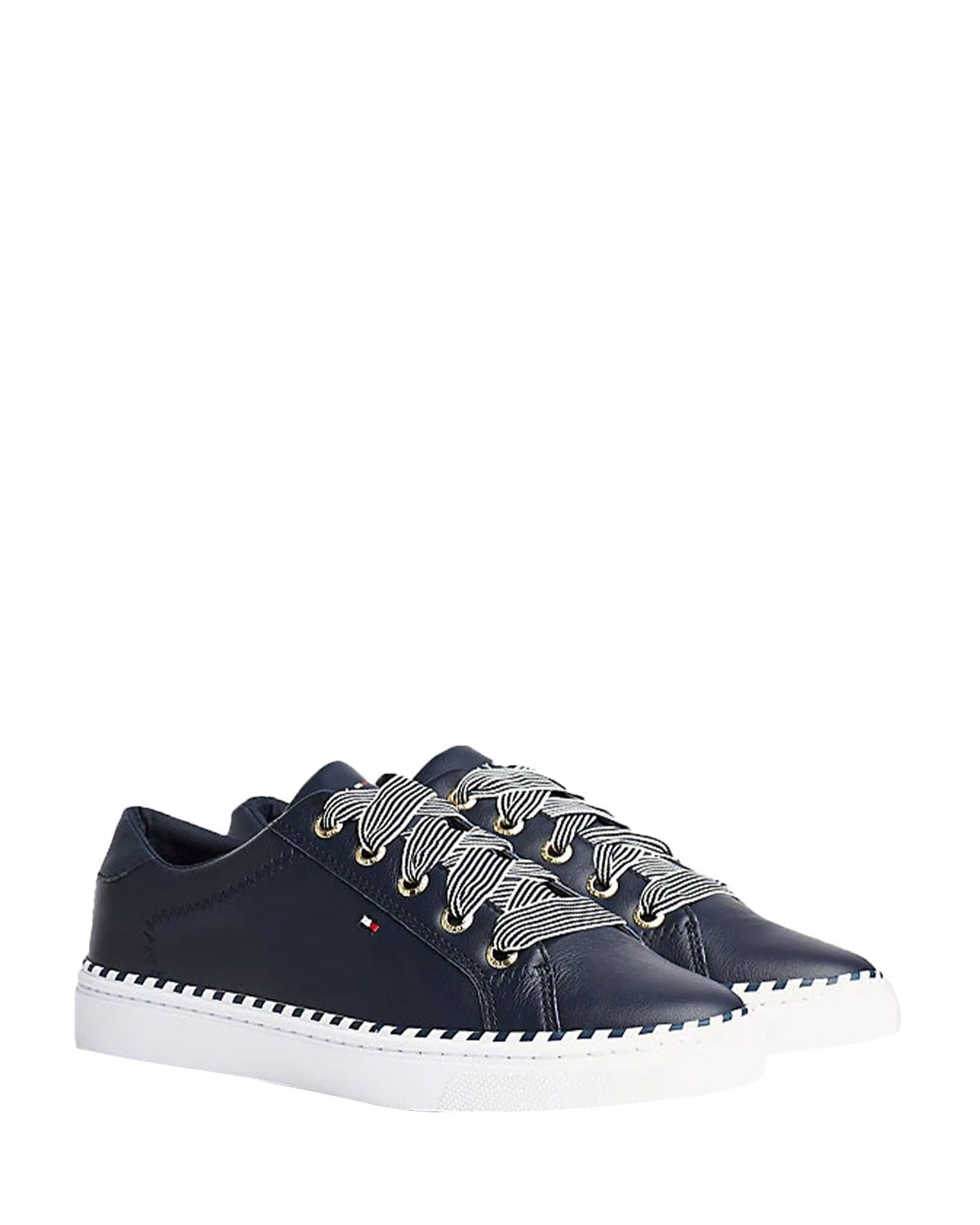 Tommy Hilfiger Nautical Lace Up Sneaker Kadın Sneakers FW0FW04689 Navy Blue