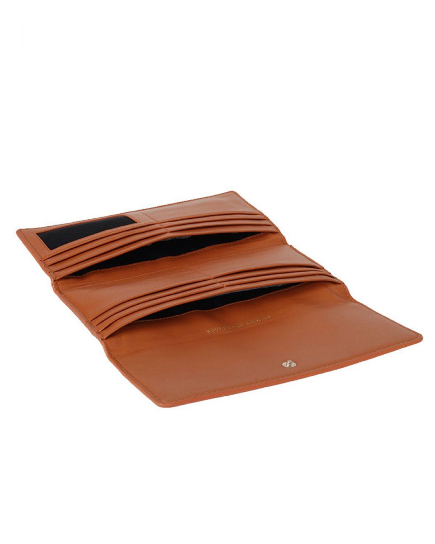 Tommy Hilfiger Smooth Leather Ew Slim Flap Kadın Cüzdanı AW0AW05139 Konyak