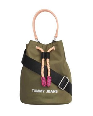 Tommy Hilfiger Tjw Nautical Mix Sm Bucket Nyl Kadın Body Bag AW0AW08052 Capers mix