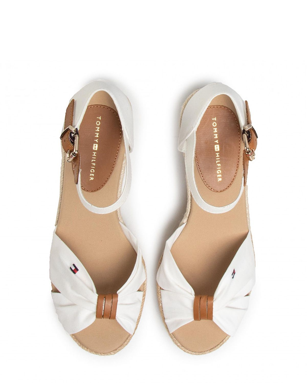 Tommy Hilfiger Basic Open Toe Mid Wedge Kadın Sandalet FW0FW04785 Ivory