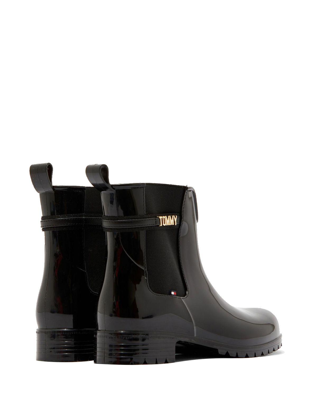 Tommy Hilfiger Block Branding Rainboot Kadın Yağmur Botu FW0FW05202 Black