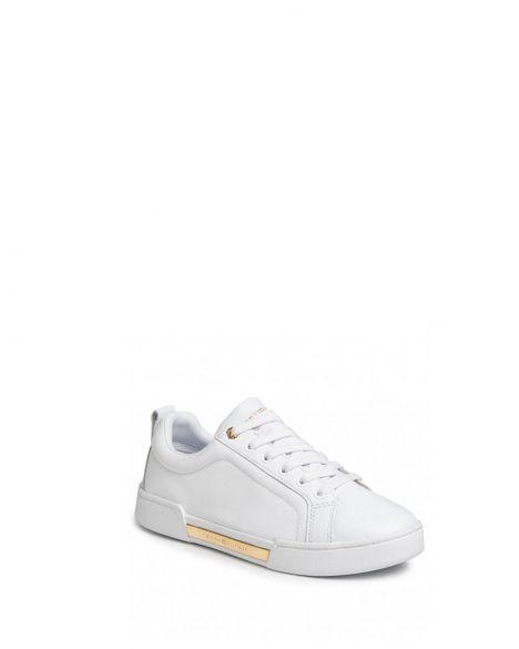 Tommy Hilfiger Branded Outsole Metallic Kadın Sneakers FW0FW04707 White