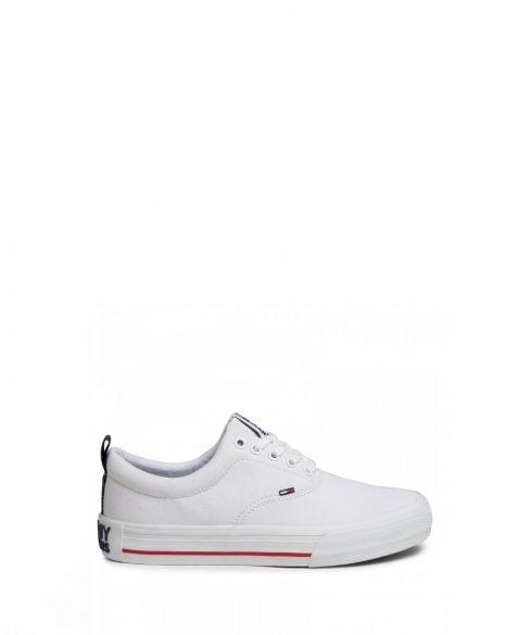 Tommy Hilfiger Classic Low Tommy Jeans Erkek Sneakers EM0EM00405 White