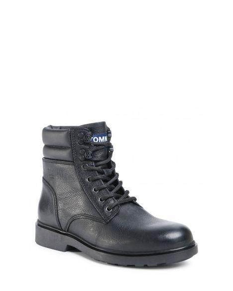 Tommy Hilfiger Classic Tommy Jeans Lace Up Erkek Bot EM0EM00540 Black