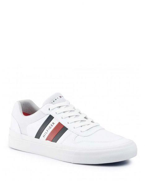 Tommy Hilfiger Core Corporate Modern Vulc Erkek Sneakers FM0FM02618 White