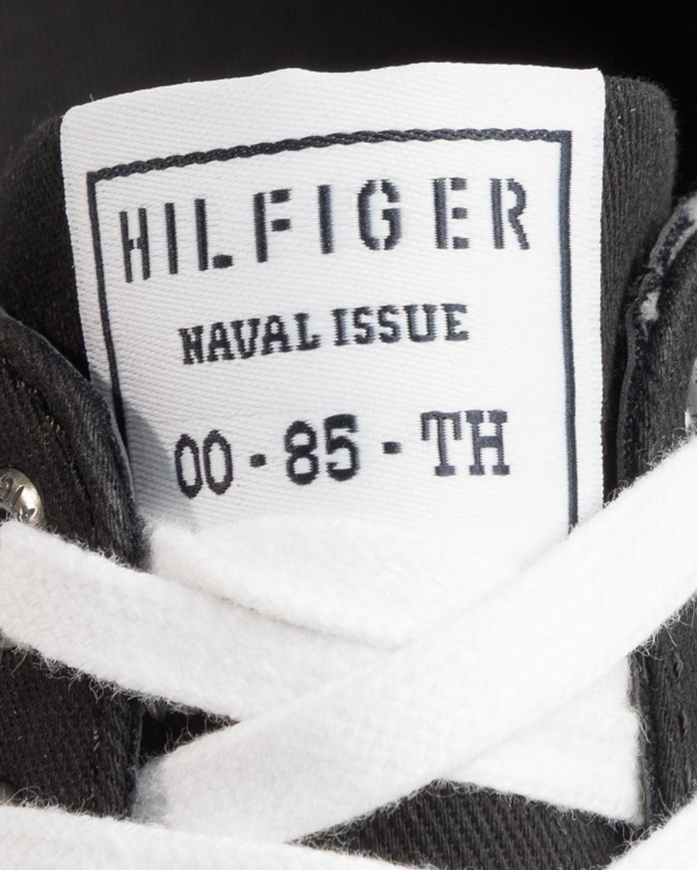Tommy Hilfiger Core Corporate Textile Sneaker Erkek Ayakkabı FM0FM02676 Black
