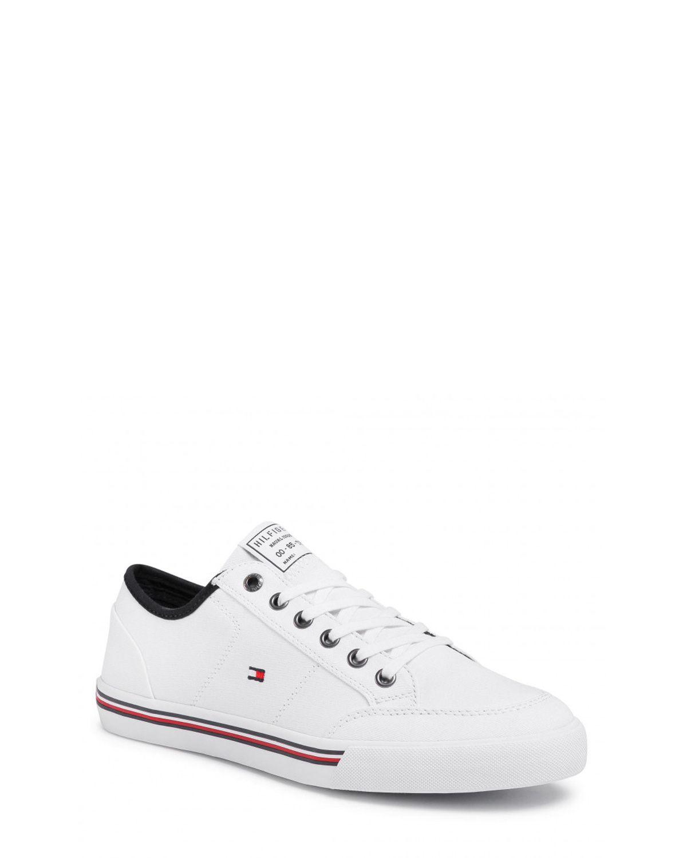 Tommy Hilfiger Core Corporate Textile Sneaker Erkek Ayakkabı FM0FM02676 White