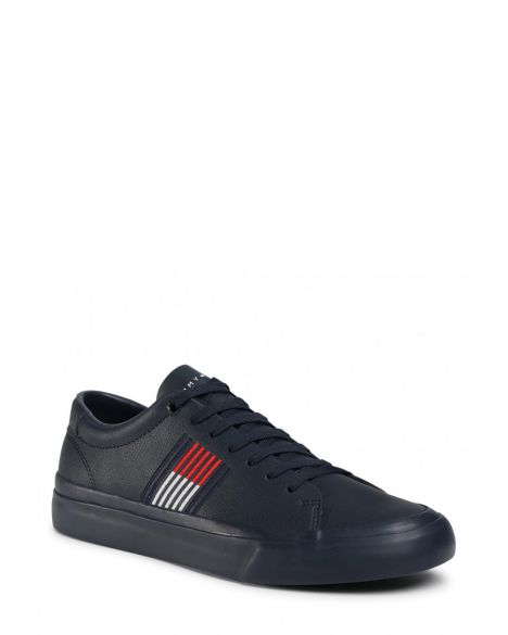 Tommy Hilfiger Corporate Leather Erkek Sneaker FM0FM02853 RWB