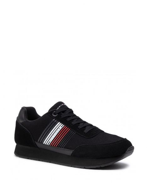 Tommy Hilfiger Corporate Material Mix Runner Erkek Sneaker FM0FM02835 Black