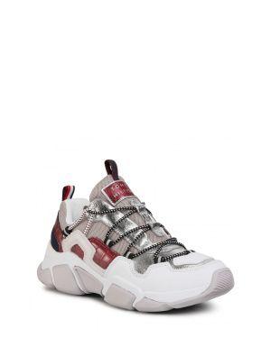 Croc Print Tommy Chunky Kadın Sneaker  Silver