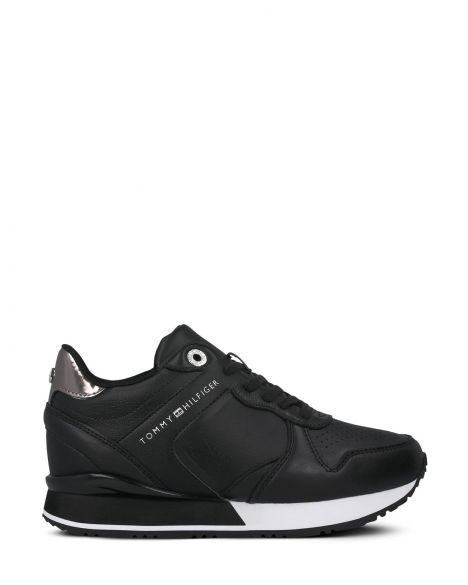 Tommy Hilfiger Dressy Wedge Kadın Sneaker FW0FW05016 Black