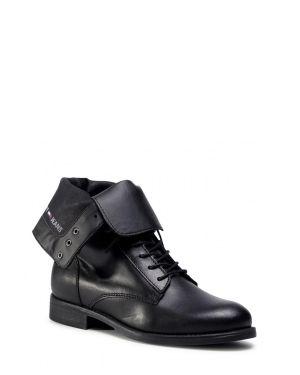 Essential Dressed Lace Up Boot Kadın Bot  Black