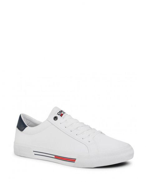 Tommy Hilfiger Essential Leather Erkek Sneaker EM0EM00488 White