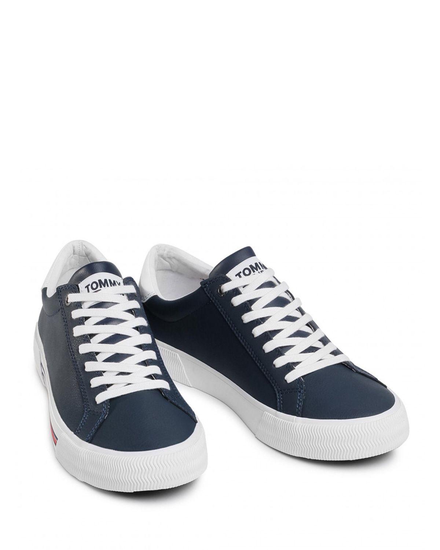 Tommy Hilfiger Essential Leather Erkek Sneaker EM0EM00488 Twilight Navy
