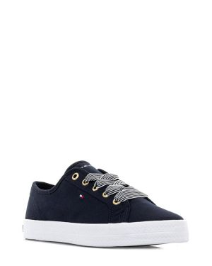Tommy Hilfiger Essential Nautical Sneaker Kadın Ayakkabı FW0FW04848 Navy Blue