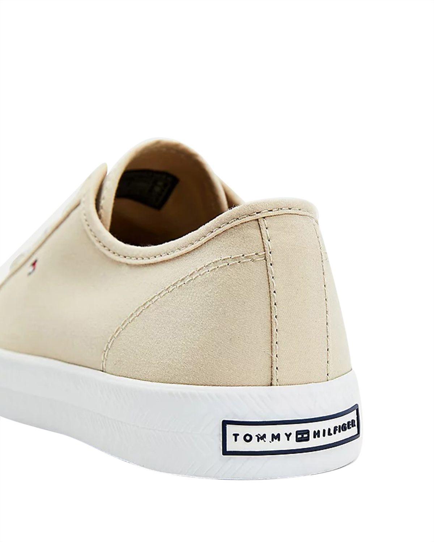 Tommy Hilfiger Essential Nautical Sneaker Kadın Ayakkabı FW0FW04848 Classic Beige