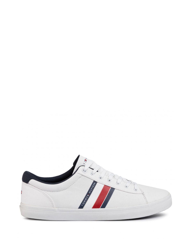 Tommy Hilfiger Essential Stripes Detail Sneaker Sneaker Erkek Ayakkabı FM0FM02685 White