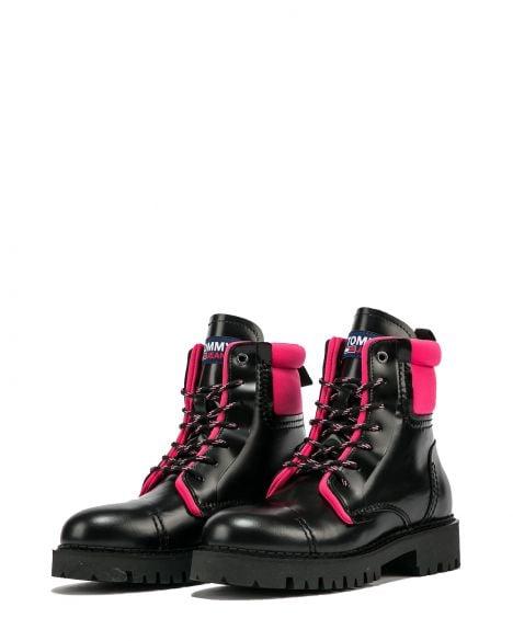 Tommy Hilfiger Fashion Pop Color Kadın Bot EN0EN01144 Black / Glamour Pink