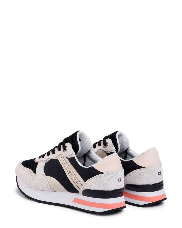 Tommy Hilfiger Feminine Active City Sneaker Kadın Ayakkabı FW0FW04696 Black