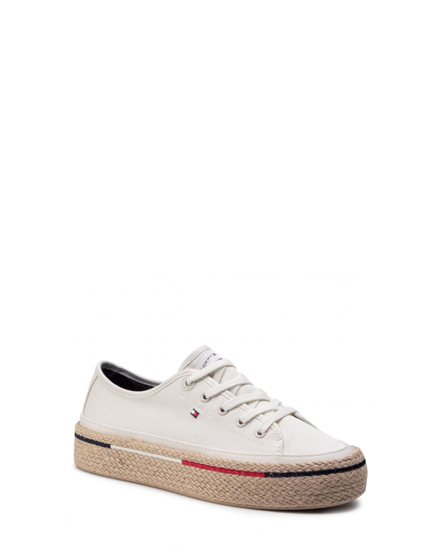 Tommy Hilfiger Flatform Rope Sneake Kadın Sneakers FW0FW04995 Ivory