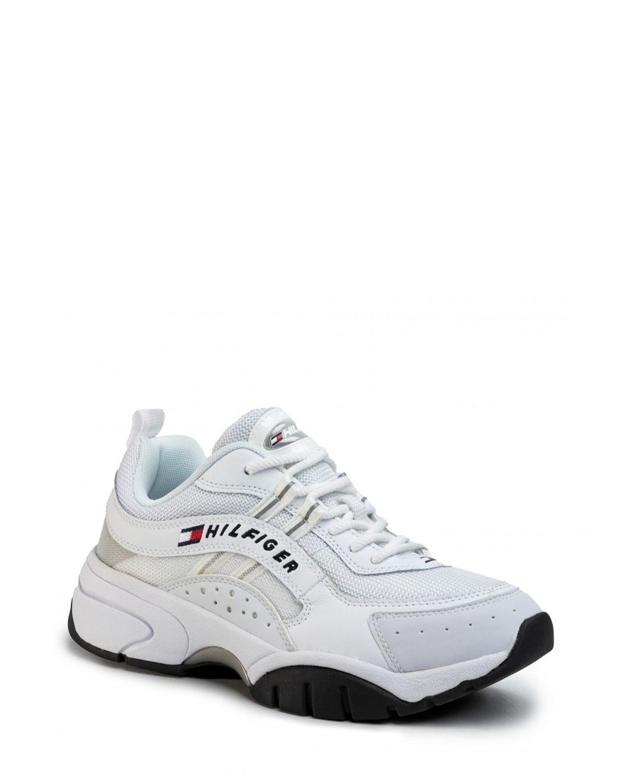Tommy Hilfiger Heritage Tommy Jeans Runner Erkek Ayakkabı EM0EM00397 White