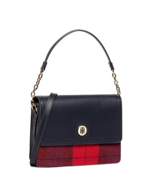 Tommy Hilfiger Honey Shoulder Bag Check Kadın El Çantası AW0AW09058