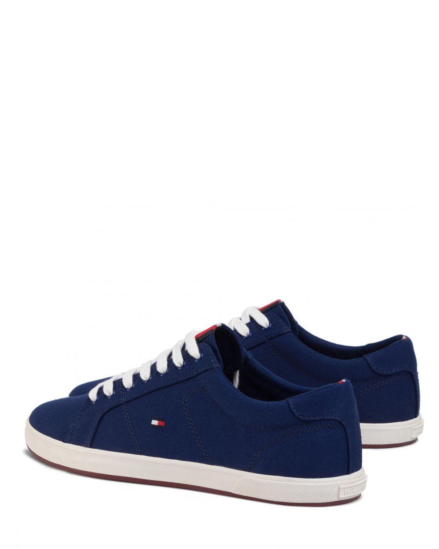 Tommy Hilfiger Iconic Long Lace Sneaker Erkek Ayakkabı FM0FM01536 Navy Blue