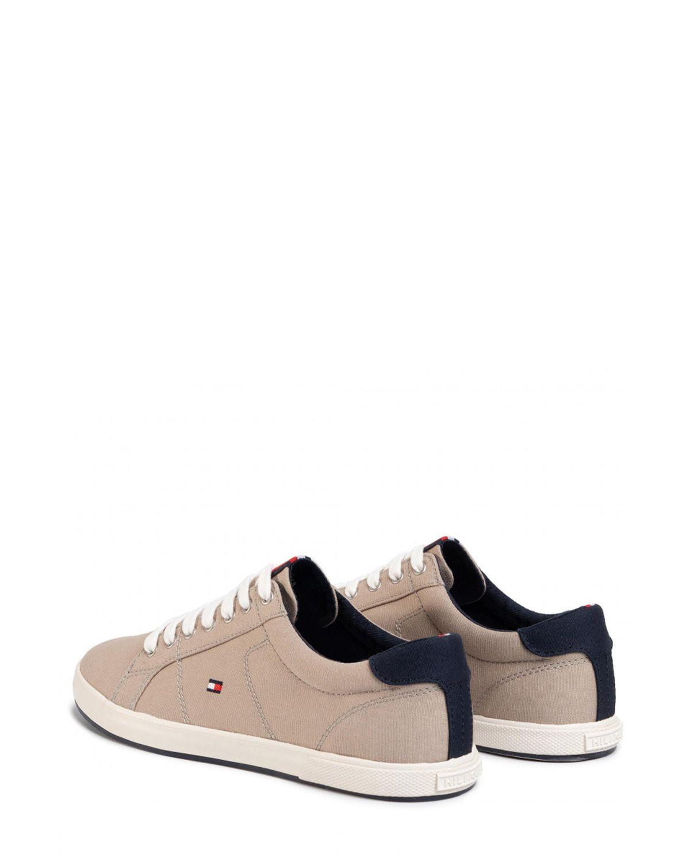 Tommy Hilfiger Iconic Long Lace Sneaker Erkek Ayakkabı FM0FM01536 Stone
