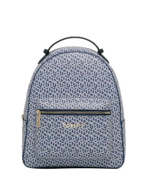 Tommy Hilfiger Iconic Tommy Backpack Monogram Kadın Sırt Çantası AW0AW07926 Blue Ink