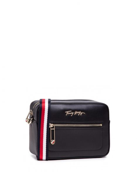 Tommy Hilfiger Iconic Tommy Camera Bag Çapraz Askılı Kadın Çantası AW0AW09659 Black