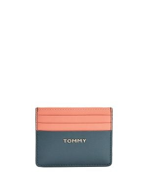 Tommy Hilfiger Iconic Tommy Cc Holder Cb Kartlık AW0AW08913 Charcoal Blue
