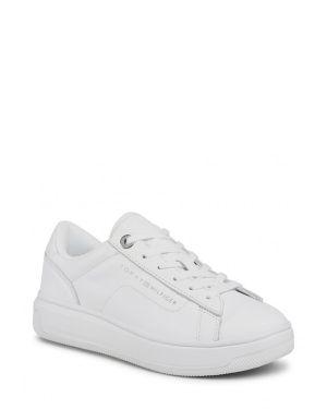 Tommy Hilfiger Leather Cupsole Kadın Sneaker FW0FW05009 White
