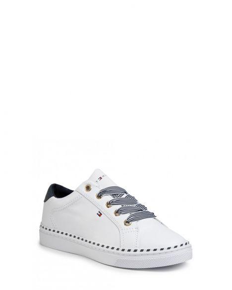 Tommy Hilfiger Nautical Lace Up Sneaker Kadın Ayakkabı FW0FW04689 White