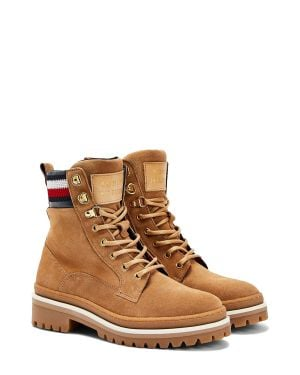 Tommy Hilfiger Rugged Classic Lace Up Flat Kadın Bot FW0FW05171