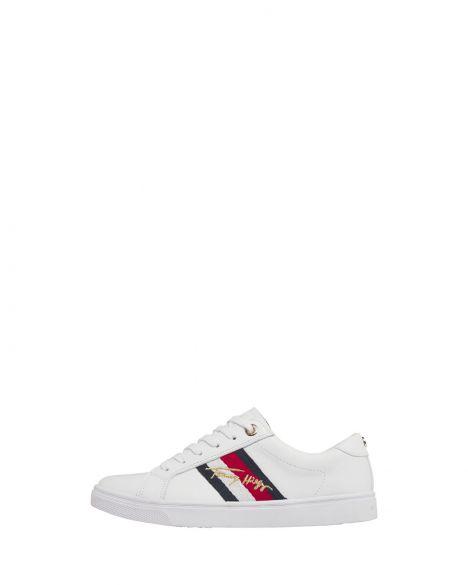 Tommy Hilfiger Signature Cupsole Sneaker Kadın FW0FW05224 White