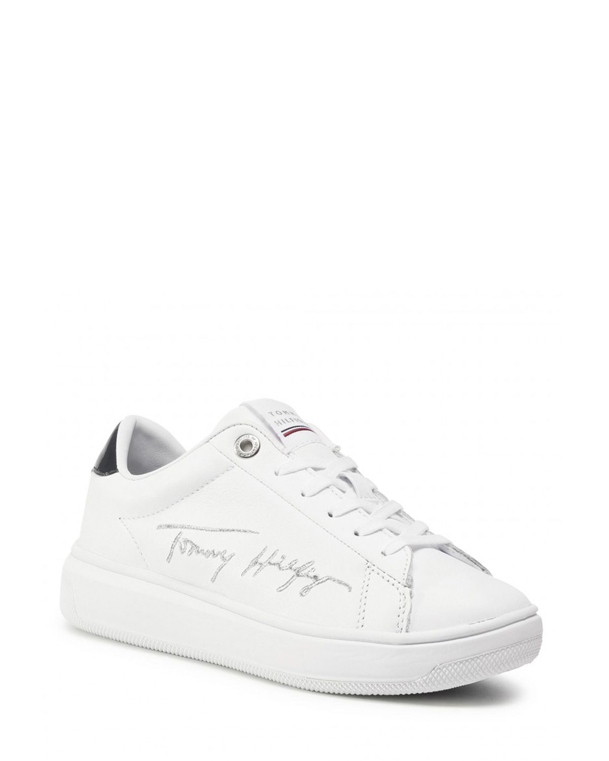 Tommy Hilfiger Signature Tommy Leather Cupsole Sneakers FW0FW05219 White