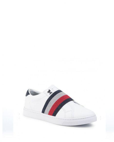 Tommy Hilfiger Slip On Elastic Casual Kadın Sneakers FW0FW04597 White