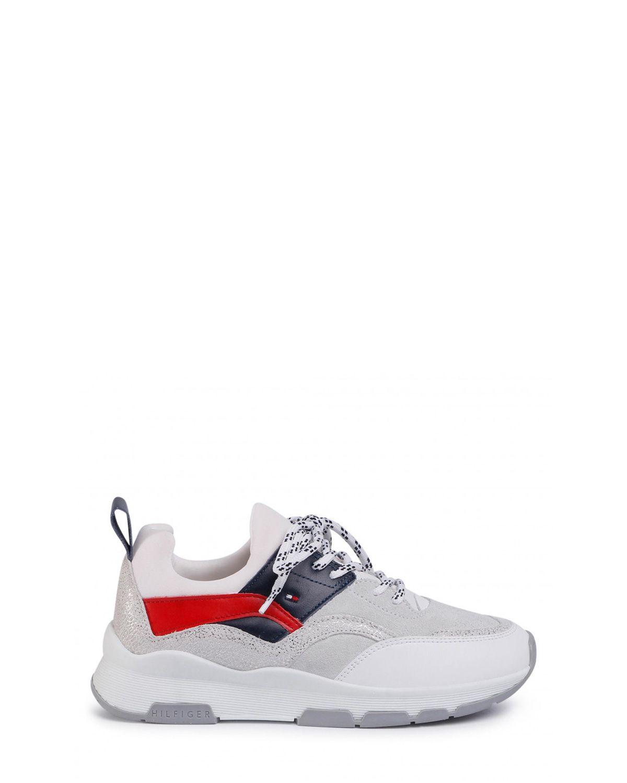Tommy Hilfiger Sporty Chunky Glitter Sneaker Kadın Ayakkabı FW0FW04853 RWB
